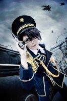 military fushimi saruhiko  spoon 2di by mianmian123