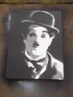 Charlie Chaplin 3 layer canvas by GHOSTZzArt