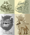 Game Of Thrones- Ghibli Crossover by Chazambre