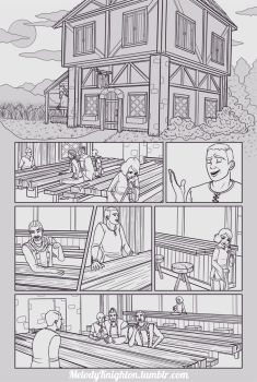 Webcomic Pg. 01 Lineart by MelodyMoore