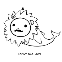 Fancy Sea Lion by arseniic
