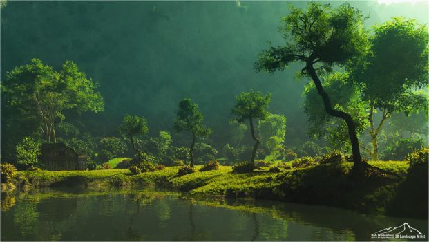 The Valley by 3DLandscapeArtist