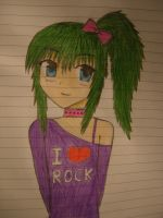 My First Drawing of an Anime Girl :D by jerzyna-chan