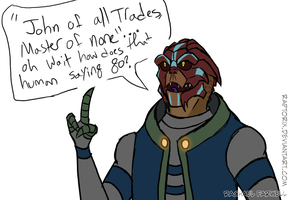 ME - Blue the turian by Raptorix