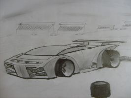 futuristic concept car by compaan-art