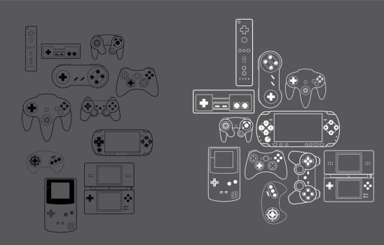 Game Controller Vectors by sobakchi
