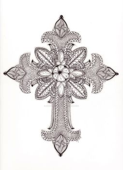 Tangled Ornate Cross by scootergirl762