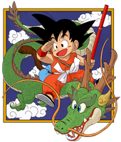 Dragon Ball - kid Goku and Shenlong - Manga vol.1 by superjmanplay2