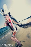 feathers and sand by KellyEden