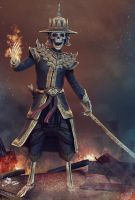 Skeleton Warrior of Myanmar by ZawYeMyint1