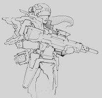 Scifi character sketch by p00se2