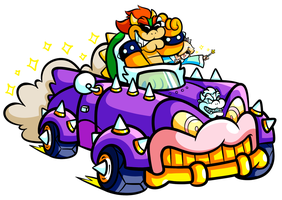 Commission - BxR on the Bowser Mobile by JamesmanTheRegenold