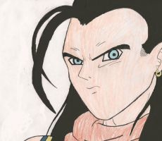 SUPER ANDROID 17 by EvilMonkeyFloofin
