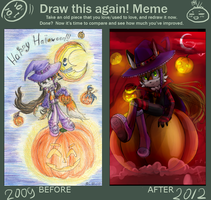 Before and after meme by Reroro-GC