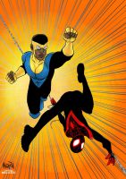 Day 23: Invincible and Spidey by BloodySamoan