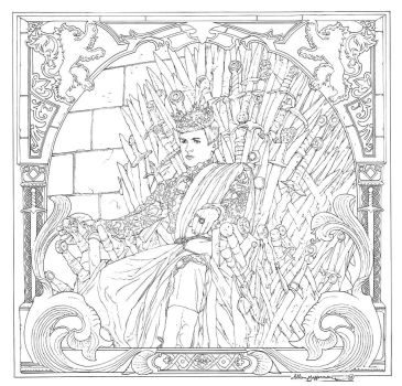 Game Of Thrones_ Coloring Book_ 14 by AllJeff