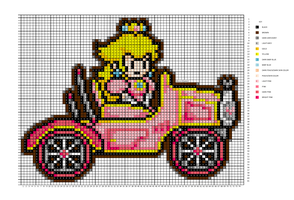 Paper Peach in Car pattern by H3LLoK66aren99