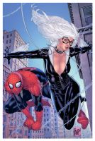 Spidey and Black Cat by EagleGosselin