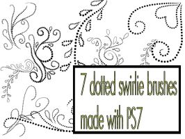 Dotted swirlie brushes by stuff-by-hagrid