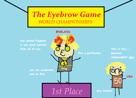 Eyebrow Game ( Hetalia Edition) by BlazinBootyFlames