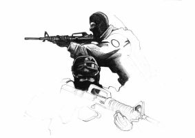 Old sketches - counter strike by carlibux