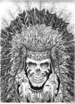 native skull by inkinblood