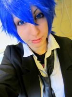 Kaito Wig trying by Kizu-Ouji-Sama