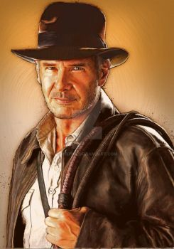 Indiana Jones painting by meitme