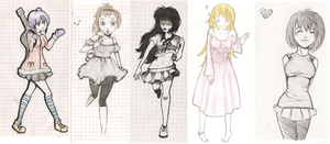 sketches by yoko-hime