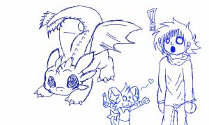 Shinx Draw a Toothless by BastienLink