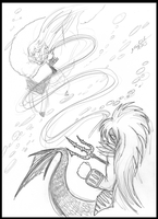 Sesshomaru VS Ryuta by bluebellangel19smj