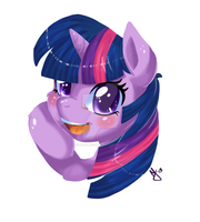 TwilightSparklewtfomgroflmaobbq colored by IEatedAUnicorn