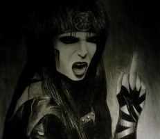 Mick Mars Flipping Off by aerokay