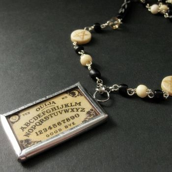 Ouija Board Beaded Necklace by Gilliauna