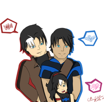 JayDick Family AT by CrimsonRobin