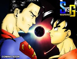 Superman Vs. Goku by PawprintsInTheSand