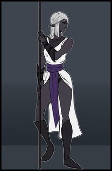 Drow Spear Girl by goeliath