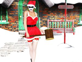 Harley Quinn Christmas by FredAckerman