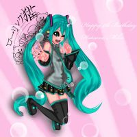Happy Birthday Miku by MomoiroNeko-tan