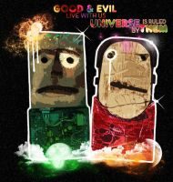 good and evil live with us by indieferdie