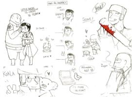 TF2 Doodles by SallysTale