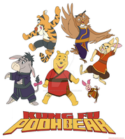 Kung Fu Winnie the Pooh by ColdHeartedCupid