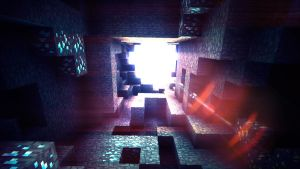 Fell down a hole - Minecraft by MuuseDesign