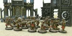 Imperial Guard Vostroyans by darkcornerpainting