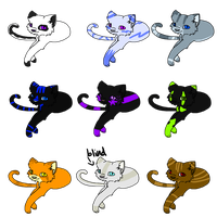 cat adoptables6 by Scarsadopts