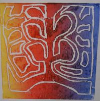Chili Cross Section Lino Print by SkyChow