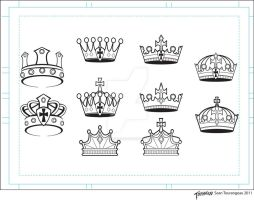 Vector Clip Art Crowns by stourangeau
