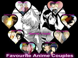 Favourite anime couples by thecartoongirl22