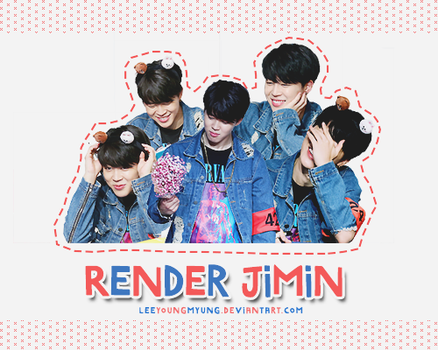 [160707] JIMIN - RENDER PACK by Leeyoungmyung
