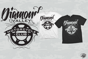 diamond valley motorcycle tee design by TraviiGFX